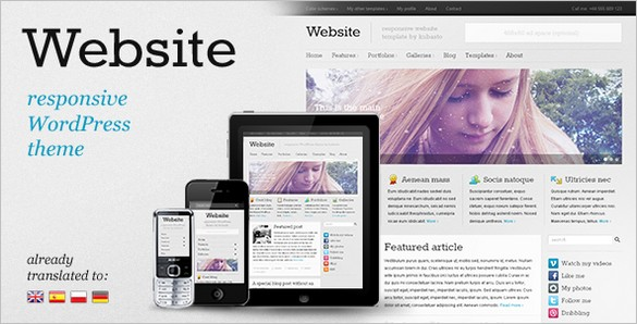 Website is a responsive WordPress theme