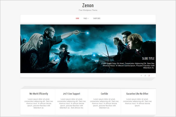 Zenon Lite is a free WordPress Theme by Towfiq I