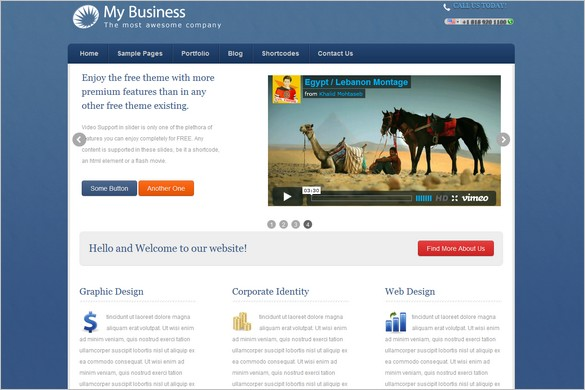 4 free wordpress themes from wpmeta mybusiness is a free wordpress theme by wpmeta friedricerecipe Gallery