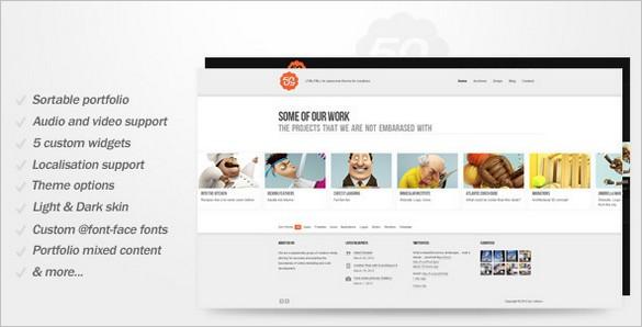 50/50 - A Clean Portfolio WordPress Theme
