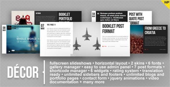 Decor is a Fullscreen and Creative WordPress Theme