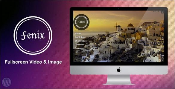 Fenix - Fullscreen Video & Image Background WordPress Theme