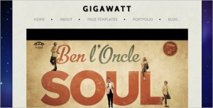 Gigawatt is a Video Blog WordPress Theme