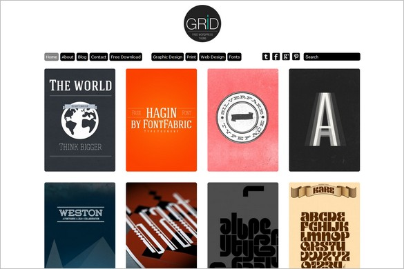 Grid Theme Responsive is a free WordPress Theme by Dessign.net