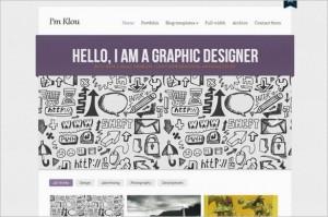 Klou is a Portfolio WordPress Theme from cssigniter