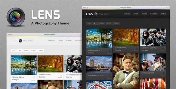 Lens is a premium Photography WordPress Theme