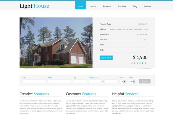 Light House is a Clean Real Estate WordPress Theme