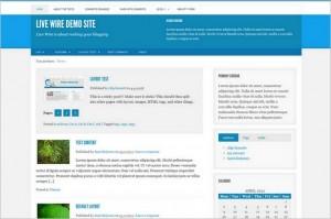 Live Wire is a free GPL WordPress Theme