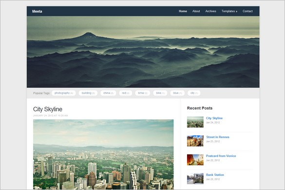 Meeta is a free WordPress Theme by WPZOOM