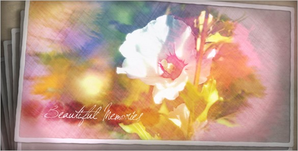 Free Painted Postcard template