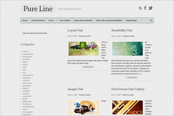 Pure Line is a free WordPress Theme by Theme4Press