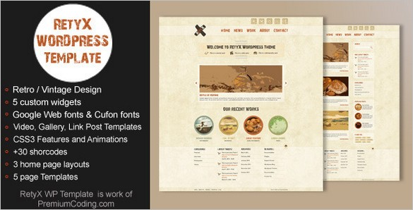 RetyX is a creative Vintage and Retro Blog WordPress Theme