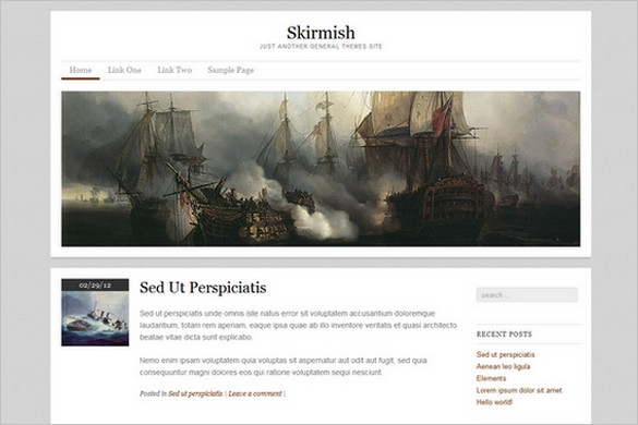 Skirmish is a free WordPress Theme by General Themes