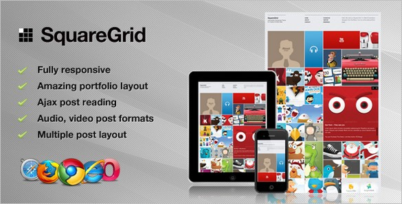 SquareGrid is a Fully Responsive and Creative WordPress Theme
