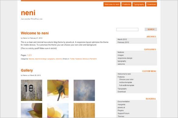 neni is a free WordPress Theme by pixxels.at