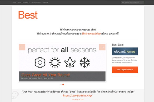 Best is a free WordPress Theme