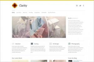 Clarity is a minimal WordPress Theme