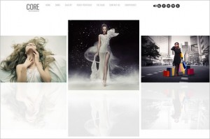 Core - A Minimalist Photography Portfolio WordPress Theme