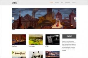 Evoke is a Minimalist Portfolio WordPress Theme