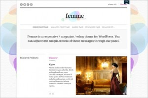 Femme is a magazine and e-shop WordPress Theme by cssigniter.com