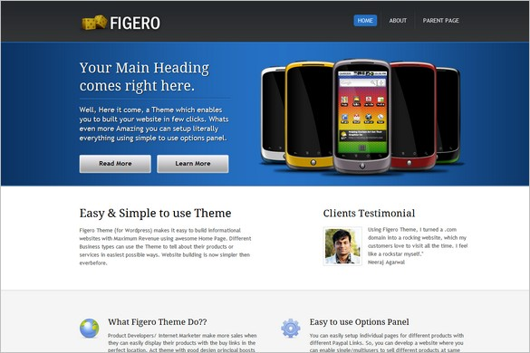 Figero is a free WordPress Theme