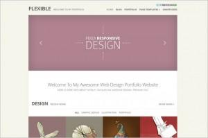 Flexible is a portfolio WordPress Theme from Elegant Themes