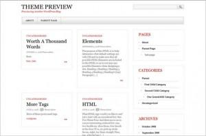 Gray White Black is a Minimalistic WordPress Theme