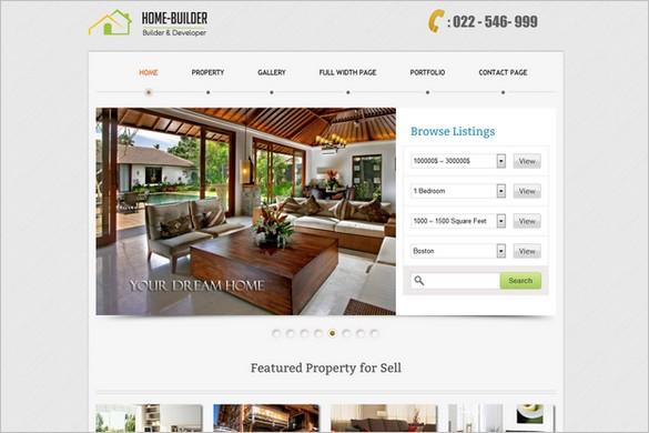 HomeBuilder is a Real Estate WordPress Theme