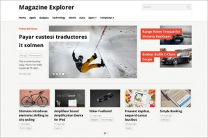 Magazine Explorer is a WordPress Theme by WPZOOM