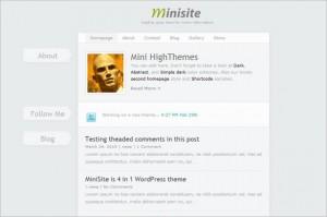 MiniSite is a premium WordPress Theme
