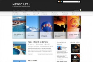 Newscast is a Magazine WordPress Theme
