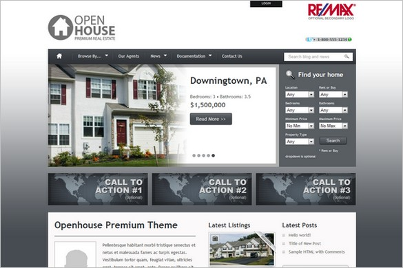 Openhouse is a Real Estate WordPress Theme