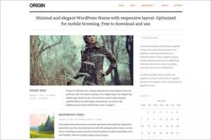 Origin is a minimalistic responsive WordPress Theme