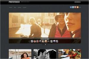 PhotoTouch is a Portfolio WordPress Theme