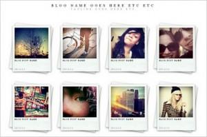Polaroids is a free portfolio WordPress Theme