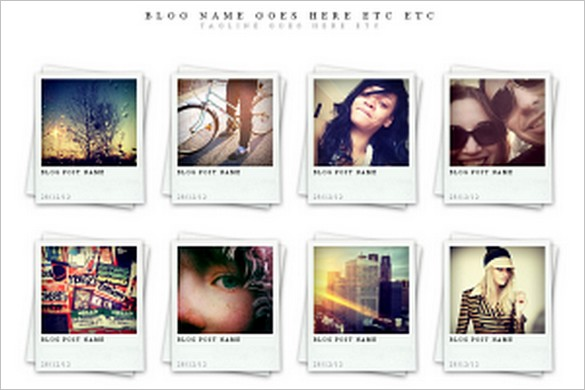 Polaroids is a free portfolio WordPress Theme