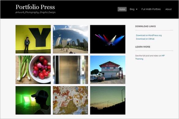 Portfolio Press is a free WordPress Theme