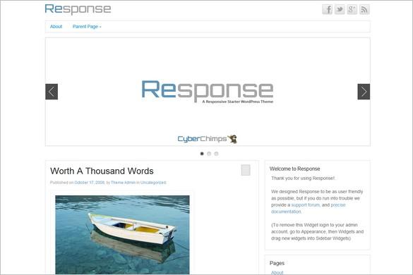 Response is a free WordPress Theme by CyberChimps.com