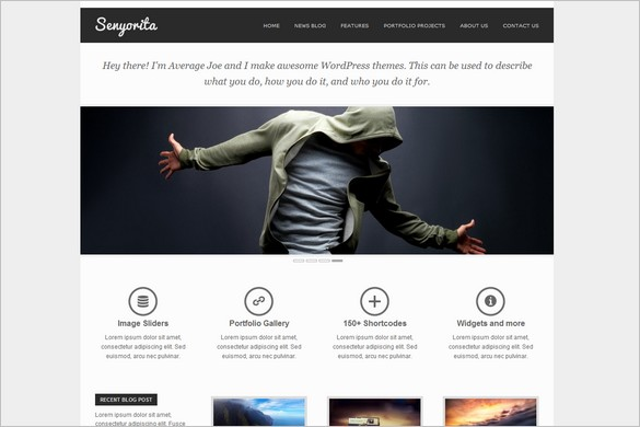 Senyorita Light is a free WordPress Theme by Joolu Themes