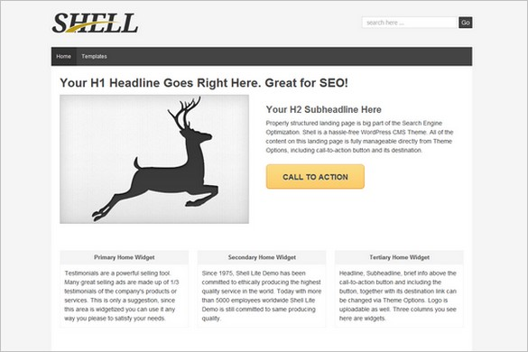 Shell Lite is a free WordPress Theme by ThemeID