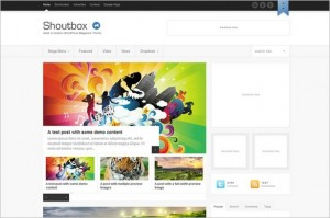 Shoutbox is a Magazine WordPress Theme