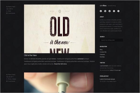 Simflex is a minimalist blogging WordPress Theme