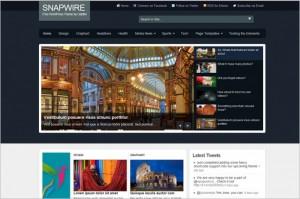 Snapwire is a free Magazine WordPress Theme