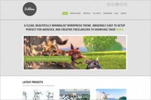 Sublime is a Minimalist WordPress Theme