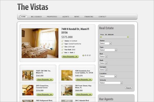 The Vistas is a Real Estate WordPress  Theme