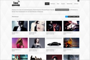Think Responsive Portfolio and Blog WordPress Theme