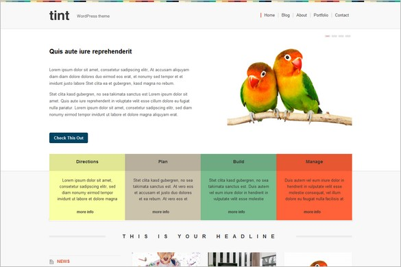 Tint is a free WordPress Theme by Themes Kingdom