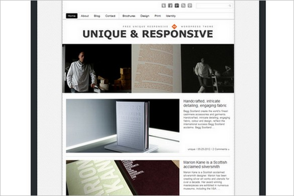 Unique Theme Responsive is a free WordPress Theme by Dessign.net
