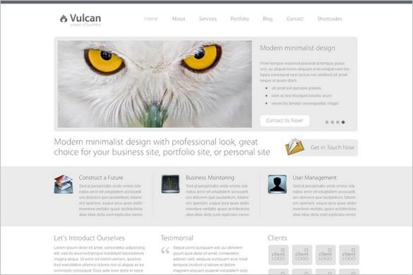 Vulcan is a Minimalist Business WordPress Theme