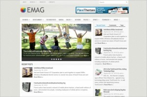 eMag is a news and magazine WordPress Theme